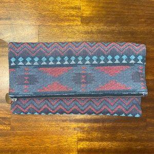 Aztec-Inspired Foldover Clutch